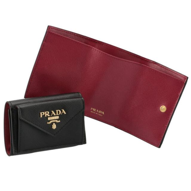 プラダ PRADA 財布 三つ折り サフィアーノ バイカラー ミニ財布 三つ折り財布 1MH021 ZLP 61H