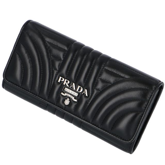 プラダ PRADA 2018年秋冬新作 長財布  DIAGRAMME ダイアグラム  二つ折り長財布 1MH132 2B0X 002