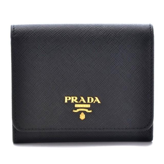 プラダ PRADA 2017年秋冬新作 サフィアーノ メタル 三つ折り財布 1MH176 QWA 002