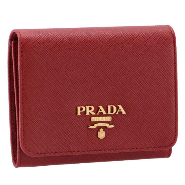 プラダ PRADA サフィアーノ メタル 三つ折り財布 1MH176 QWA 68Z【06-SS】