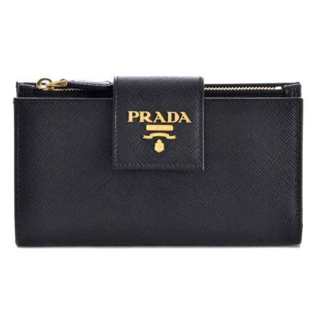 プラダ PRADA 2017年春夏新作 サフィアーノレザー 型押しカーフスキン  二つ折り財布 1ML005 QWA 002