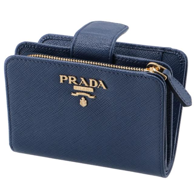 プラダ PRADA 財布 二つ折り サフィアーノ ミニ財布 二つ折り財布 1ML018 QWA 016