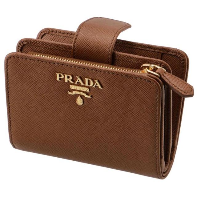 プラダ PRADA 2020年秋冬新作 財布 二つ折り  サフィアーノ ミニ財布 二つ折り財布 1ML018 QWA 046