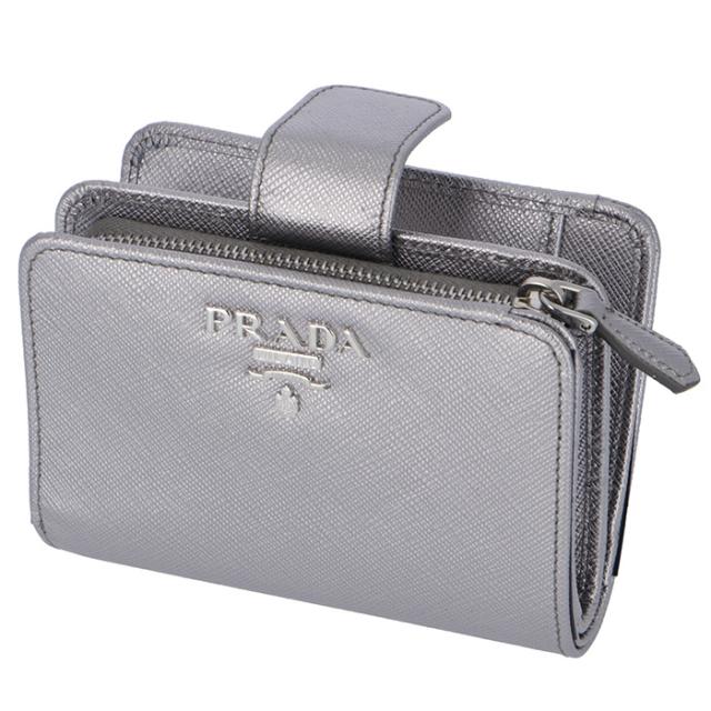 プラダ PRADA 2018年秋冬新作 財布  サフィアーノメタル 二つ折り財布 1ML018 QWA 135
