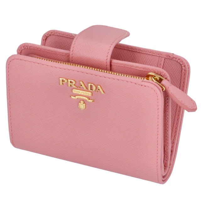 プラダ PRADA 2020年春夏新作 財布 二つ折り サフィアーノメタル  二つ折り財布 1ML018 QWA 442【06-SS】