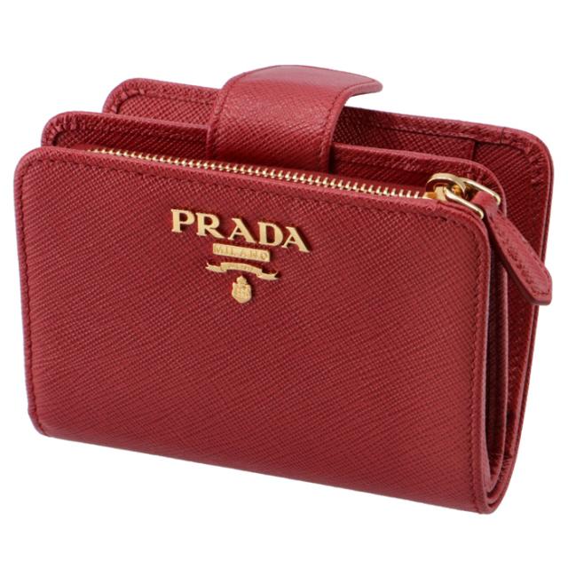 プラダ PRADA 財布 サフィアーノメタル 二つ折り財布 1ML018 QWA 68Z【06-SS】