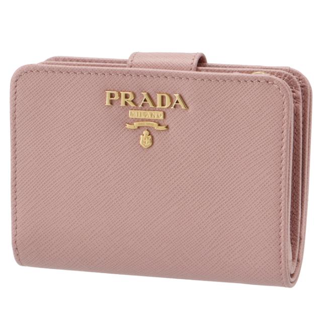 プラダ PRADA サフィアーノ ミニ財布 二つ折り財布 1ML018 QWA 924