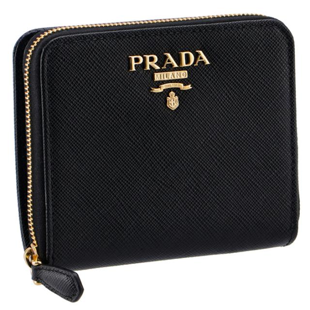 プラダ PRADA 2020年秋冬新作 財布 二つ折り サフィアーノ 折りたたみ財布 二つ折り財布 1ML036 QWA 002