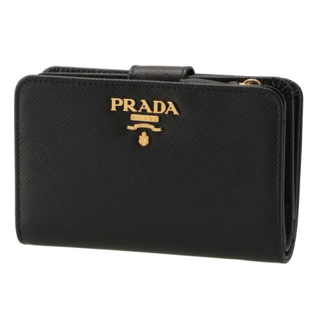 プラダ PRADA 2018年秋冬新作 財布 二つ折り 二つ折り財布 折財布 サフィアーノ 財布  二つ折り財布 1ML225 QWA 002