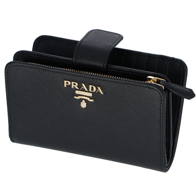 プラダ PRADA 財布 二つ折り 二つ折り財布 折財布 サフィアーノ 財布 二つ折り財布 1ML225 QWA 002