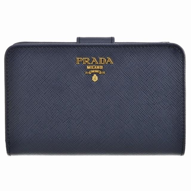 プラダ PRADA 2017年秋冬新作 サフィアーノメタル 二つ折り財布 1ML225 QWA 216