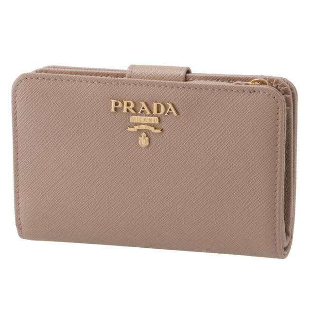 プラダ PRADA 財布 サフィアーノメタル 二つ折り財布 1ML225 QWA 236