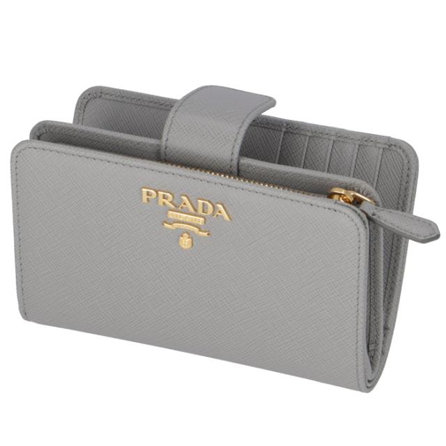 プラダ PRADA 2020年春夏新作 財布 二つ折り 折財布 サフィアーノ  二つ折り財布 1ML225 QWA 424