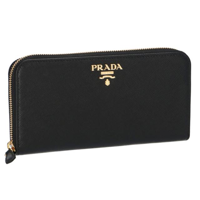 プラダ PRADA 2017年春夏新作 型押しカーフスキン ラウンドファスナー長財布 1ML506 QWA 002