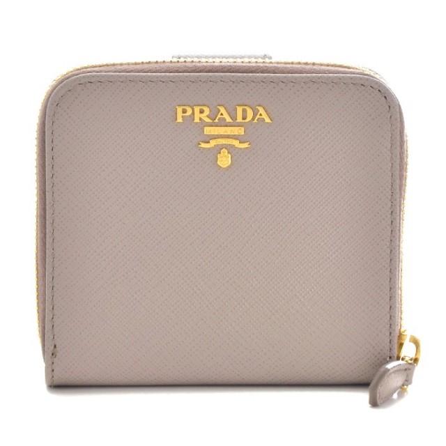 プラダ PRADA 2017年秋冬新作 サフィアーノ メタル 二つ折り財布 1ML522 QWA 572