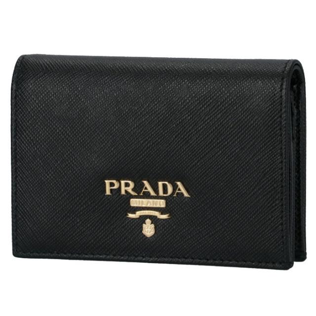プラダ PRADA 2020年春夏新作 財布  二つ折り サフィアーノ ブラック 1MV021 QWA 002