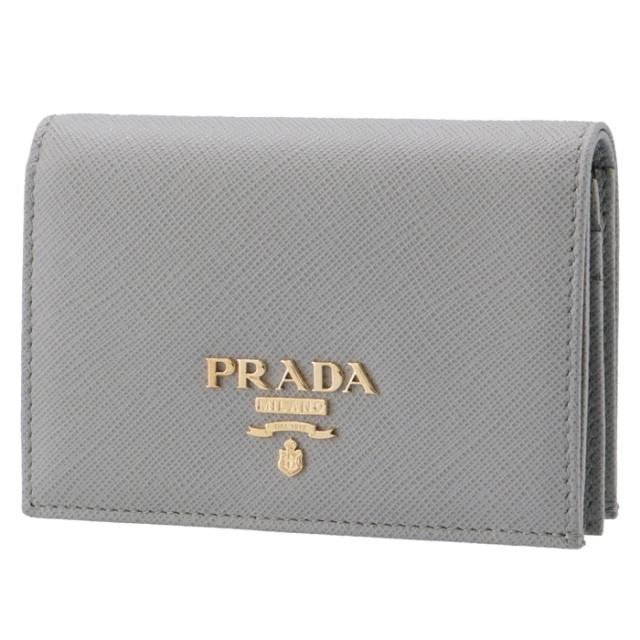 プラダ PRADA 財布 二つ折り サフィアーノ ミニ財布 二つ折り財布 1MV021 QWA 424