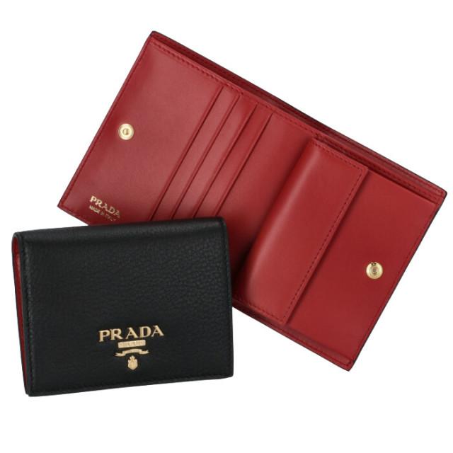 プラダ PRADA 2020年春夏新作 カーフレザー 二つ折り財布 1MV204 2BG5 LJ4