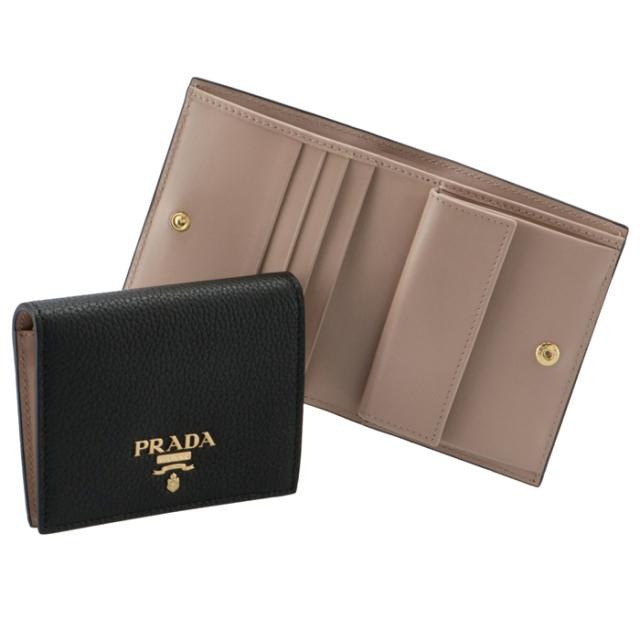 プラダ PRADA 2021年春夏新作 財布 二つ折り カーフレザー ミニ財布  二つ折り財布 1MV204 2BG5 WCL