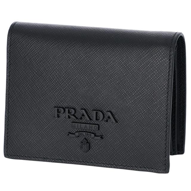 プラダ PRADA 2018年秋冬新作 財布  ミニ財布 サフィアーノレザー 二つ折り財布 1MV204 2EBW 002