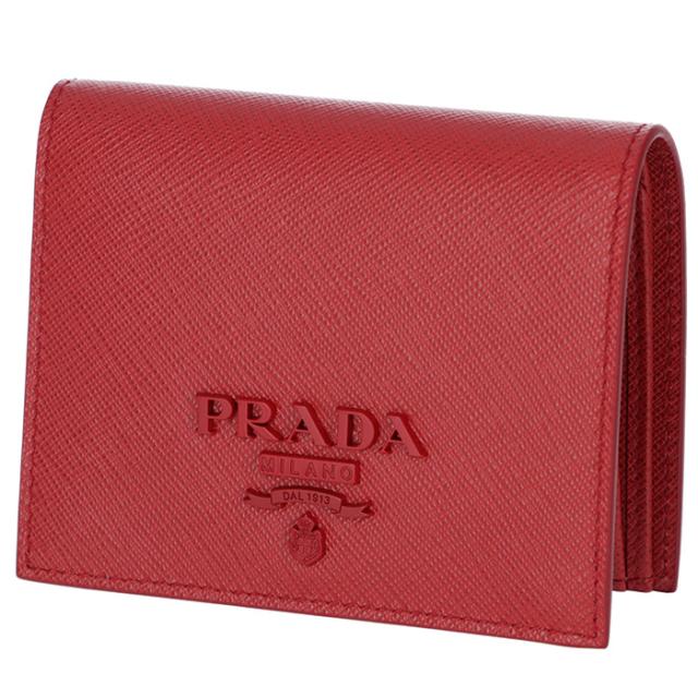 プラダ PRADA 2018年秋冬新作 財布  ミニ財布 サフィアーノレザー 二つ折り財布 1MV204 2EBW 68Z
