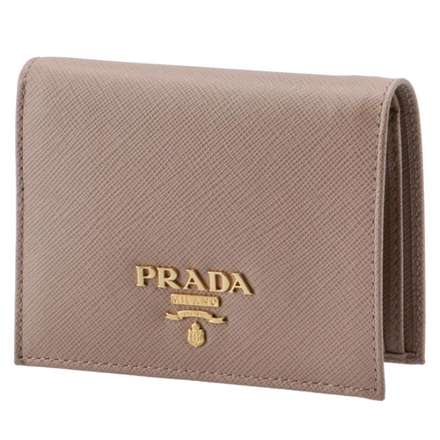 プラダ PRADA 財布 ミニ財布 サフィアーノメタル 二つ折り財布 1MV204 QWA 236