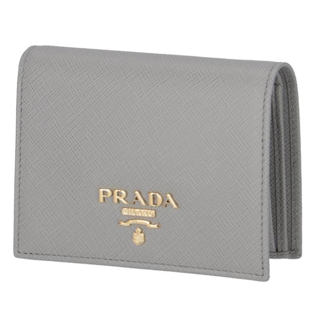 プラダ PRADA 財布 二つ折り ミニ財布 サフィアーノ 二つ折り財布 1MV204 QWA 424