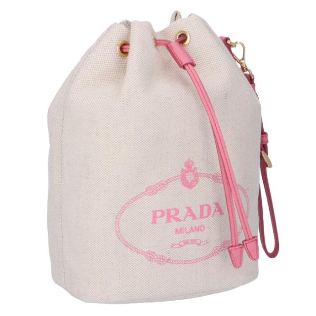プラダ PRADA 2020年春夏新作 ロゴ キャンバス ミニ バケットバッグ 巾着バッグ ポーチ 1NE369 ZPX N9T