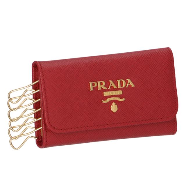 プラダ PRADA キーケース サフィアーノ 6連キーケース 1PG222 QWA 68Z