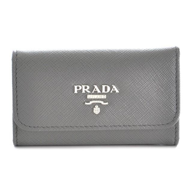 プラダ PRADA 2017年秋冬新作 サフィアーノレザー 6連キーケース 1PG222 QWA K44