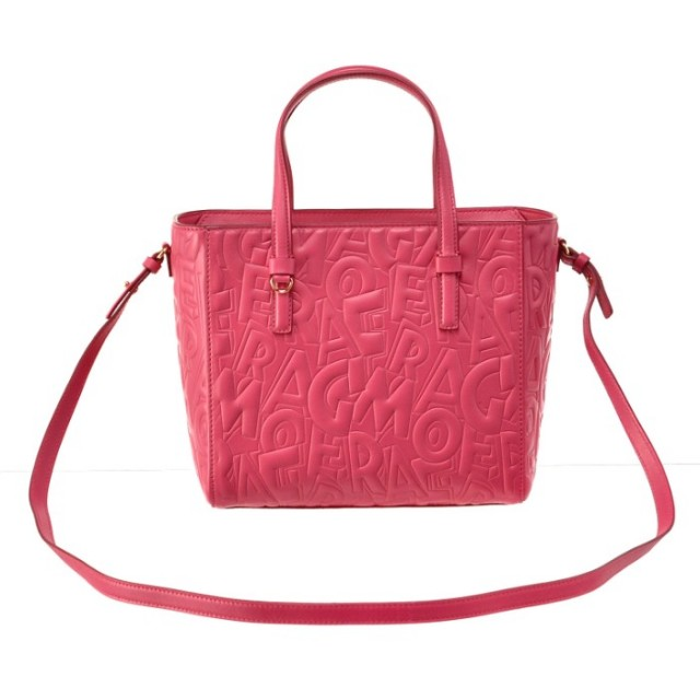 フェラガモ FERRAGAMO バッグ BAG 2WAYハンドバッグ 型押しカーフスキン 21F963 0001 0319