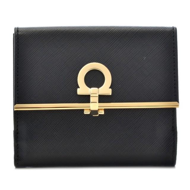 フェラガモ FERRAGAMO サイフ さいふ 二つ折り財布 型押しカーフスキン 224639 0007 0306