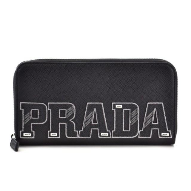 プラダ PRADA 2018年春夏新作 ブラック系 メンズ ラウンドファスナー長財布 2ML317 2EC4 002