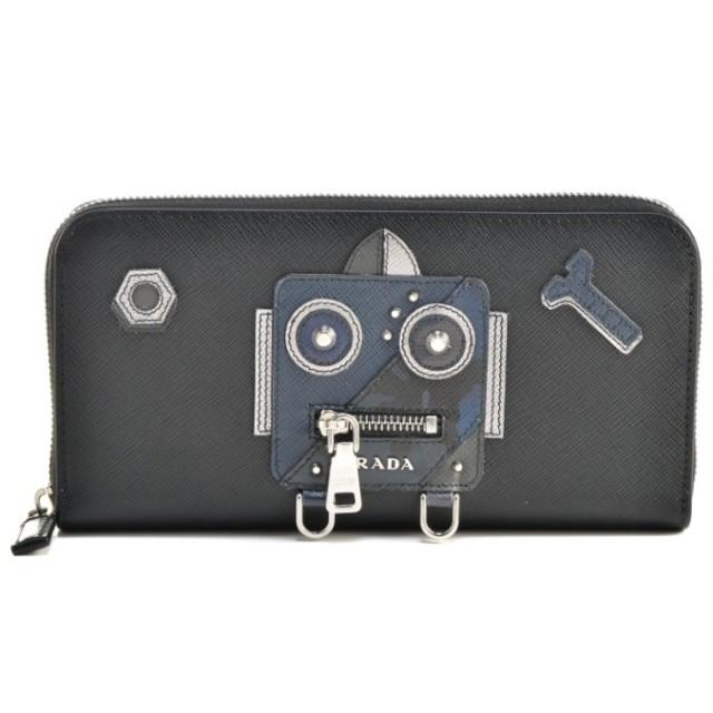 プラダ PRADA 2018年春夏新作 サフィアーノ 財布 ロボット メンズ ラウンドファスナー長財布 2ML317 2EDL 002