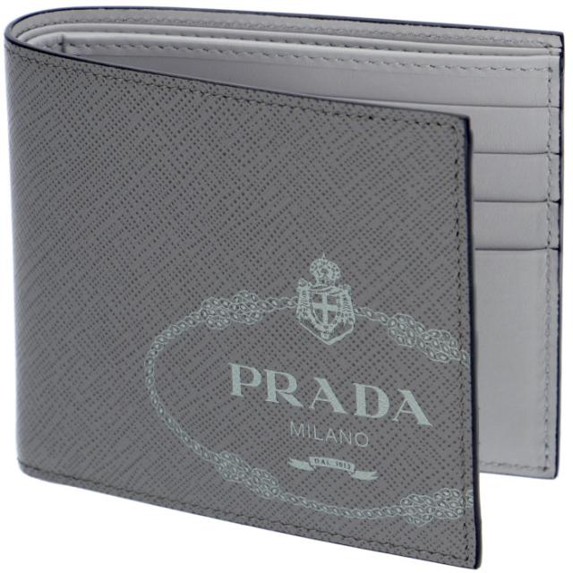 プラダ PRADA 2019年秋冬新作 メンズ 財布 二つ折り サフィアーノプリント メンズ 二つ折り財布 2MO513 2MB8 MO7