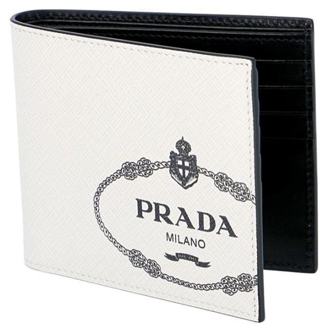 プラダ PRADA 2019年秋冬新作 メンズ 財布 二つ折り サフィアーノプリント メンズ 二つ折り財布 2MO513 2MB8 N13