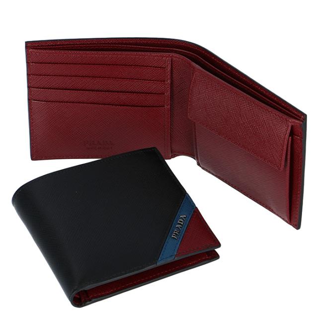 プラダ PRADA 2019年春夏新作 メンズ 財布 折財布 サフィアーノ 二つ折り財布 2MO738 2EGO XW7