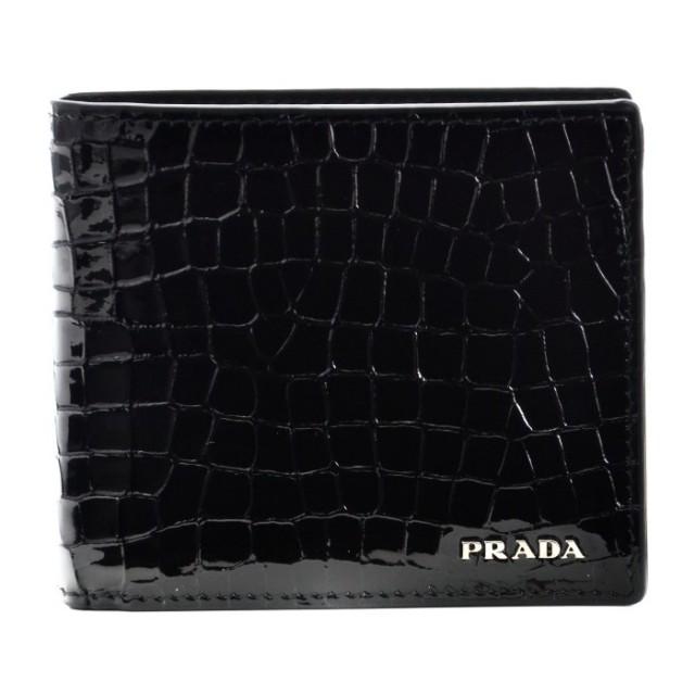 プラダ PRADA 2017年秋冬新作 サフィアーノ 財布 メンズ 二つ折り財布 2MO738 B5J 002