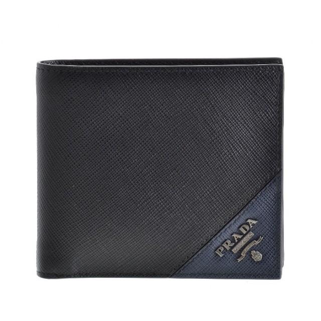 プラダ PRADA 2018年秋冬新作 サフィアーノ 財布 メンズ 二つ折り財布 2MO738 QME G52