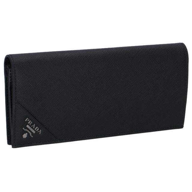 プラダ PRADA サイフ さいふ メンズ 二つ折り長財布 型押しカーフスキン 2MV836 QME 002