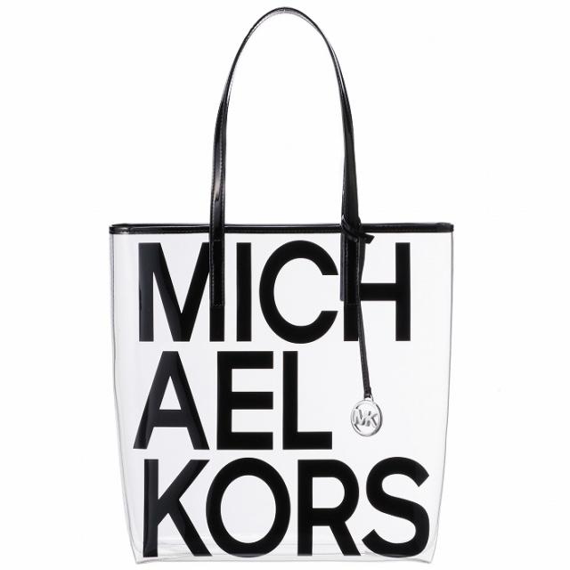 マイケル マイケル コース MICHAEL MICHAEL KORS  ロゴプリント クリアトート トートバッグ 30S8S01T3P 0011 001