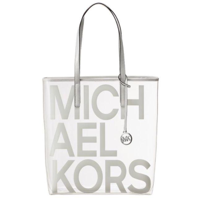 マイケル マイケル コース MICHAEL MICHAEL KORS  ロゴプリント クリアトート トートバッグ 30S8S01T3P 0011 085