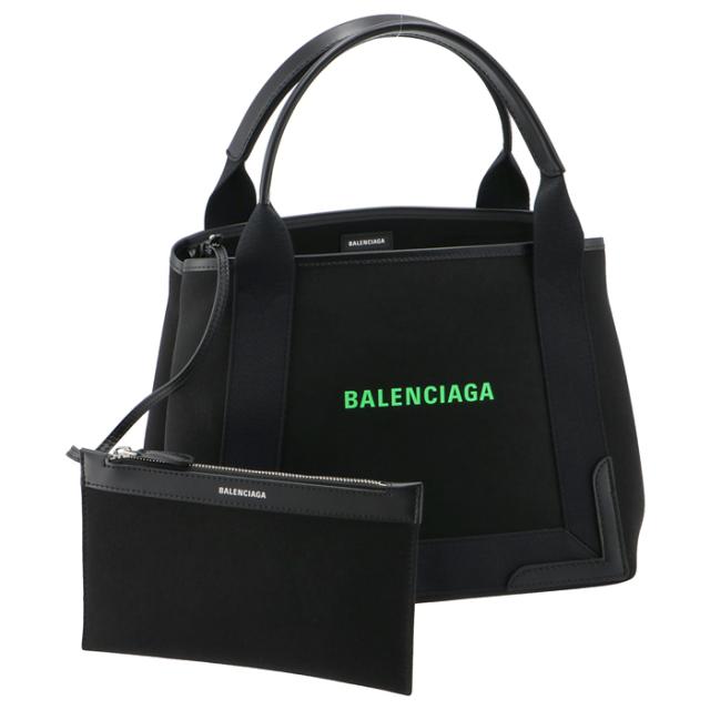 【SALE】バレンシアガ BALENCIAGA トートバッグ ネイビー カバ スモール キャンバス バッグ S 339933 2HH7N 1063