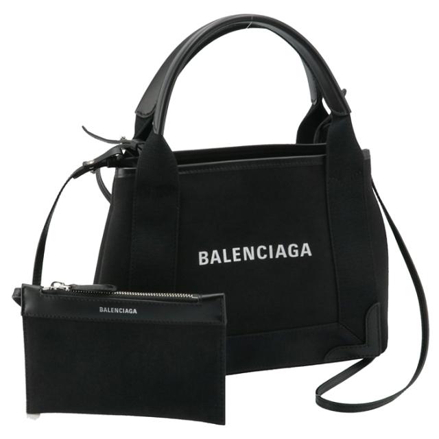 バレンシアガ BALENCIAGA 2021年秋冬新作 トートバッグ ネイビー カバ XS キャンバスバッグ NAVY CABAS XS ブラック 390346 2HH3N 1000