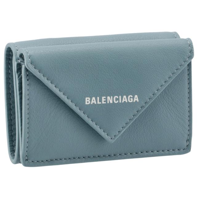 バレンシアガ BALENCIAGA 2021年秋冬新作 財布 三つ折り ミニ財布 ペーパー PAPIER ブルー系 391446 18D3N 4791