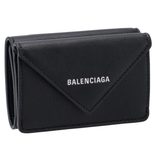 バレンシアガ BALENCIAGA ミニ財布 ペーパー ミニ PAPIER 三つ折り財布 391446 DLQ0N 1000