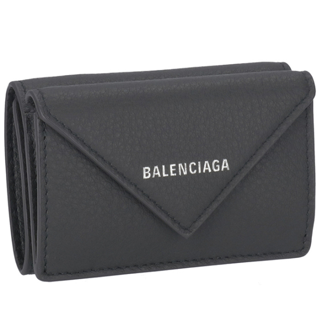 バレンシアガ BALENCIAGA ミニ財布 ペーパー ミニ PAPIER 三つ折り財布 391446 DLQ0N 1110