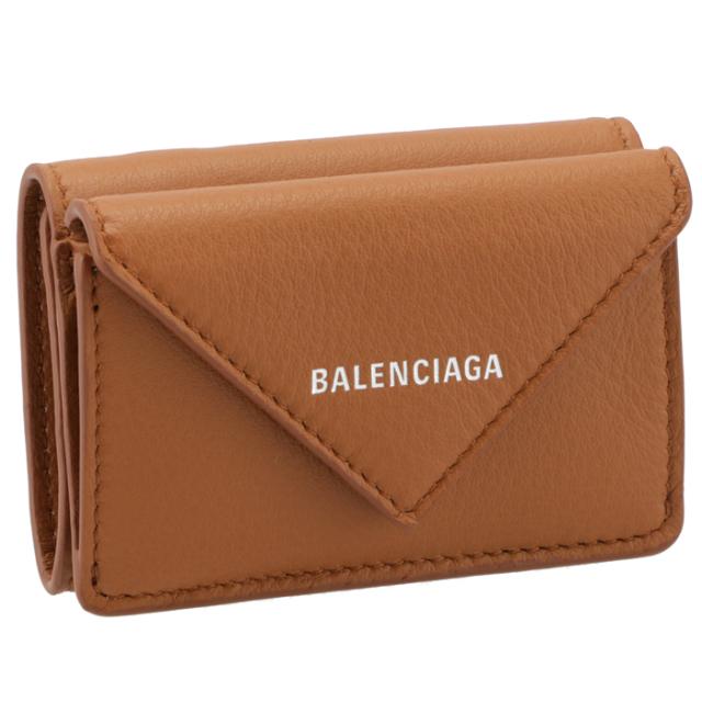 バレンシアガ BALENCIAGA 2021年秋冬新作 財布 三つ折り ミニ財布 ペーパー PAPIER キャメル ブラウン系 391446 DLQ0N 2702