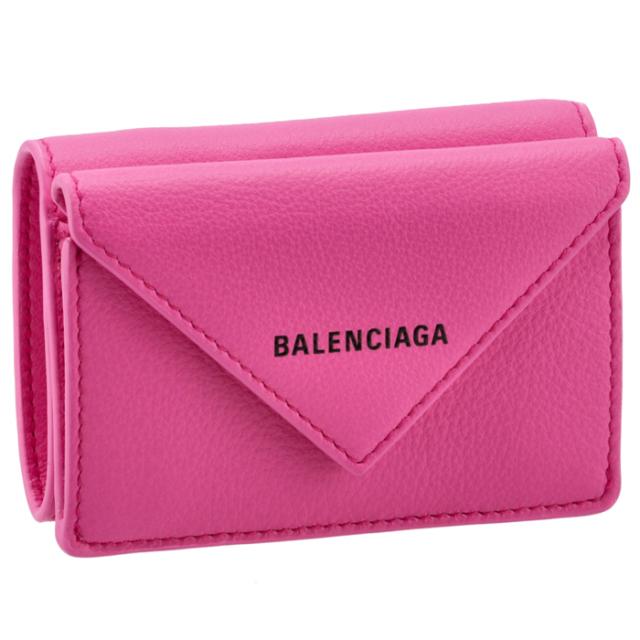 バレンシアガ BALENCIAGA 2021年秋冬新作 財布 三つ折り ミニ財布 ペーパー PAPIER ピンク 391446 DLRGN 5608