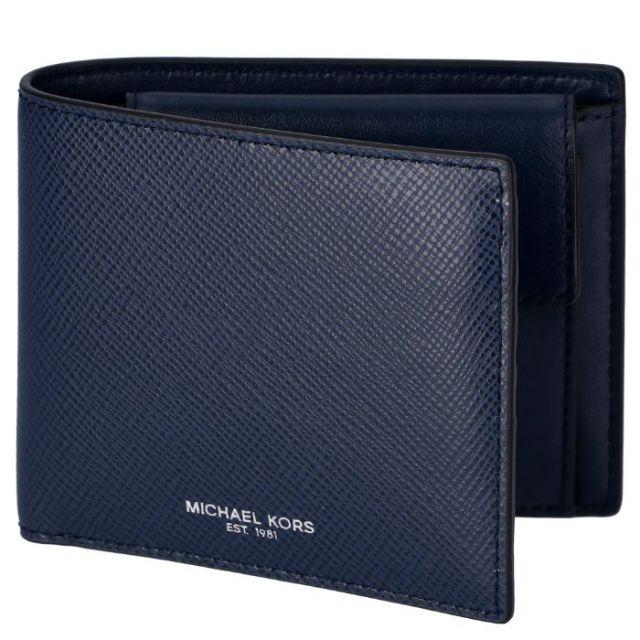 マイケル マイケル コース MICHAEL MICHAEL KORS サイフ さいふ メンズ 二つ折り財布 型押しカーフスキン 39F5LHRF3L 0001 406
